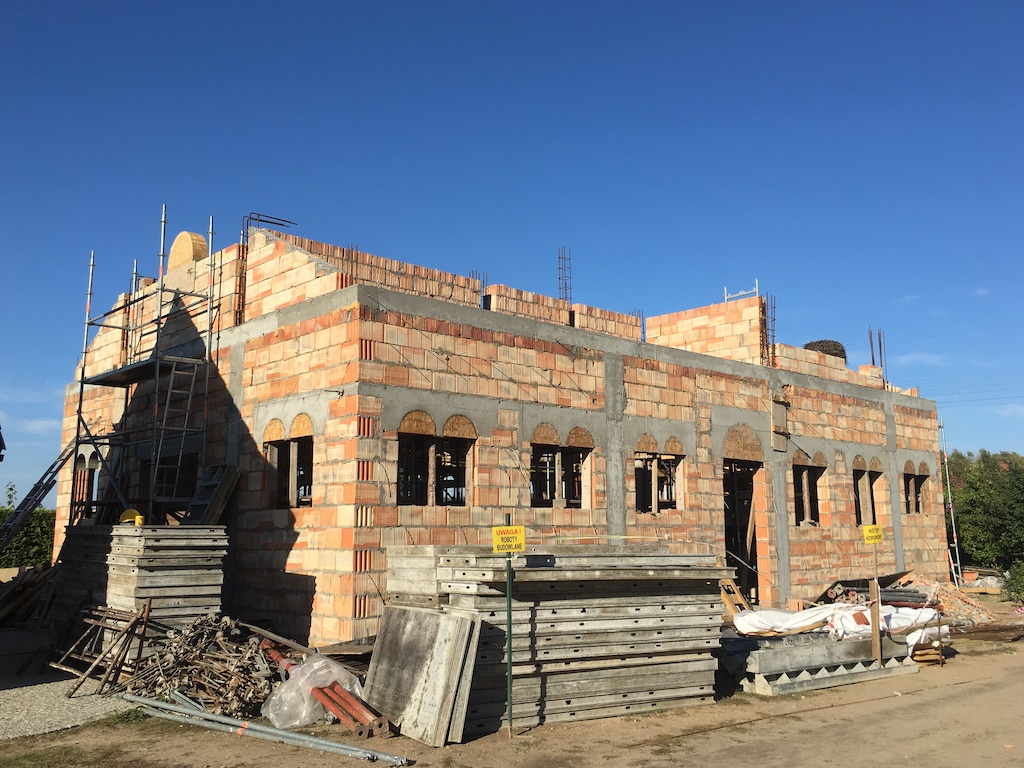 Postępy w budowie cerkwi św. Katarzyny i Męczenników Podlaskich